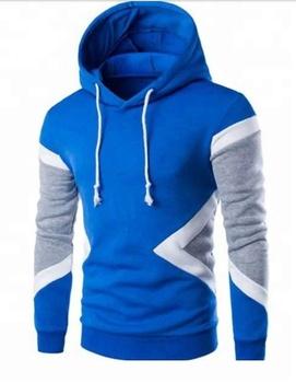 Hoodie - Men long sleeve contrast hoodie