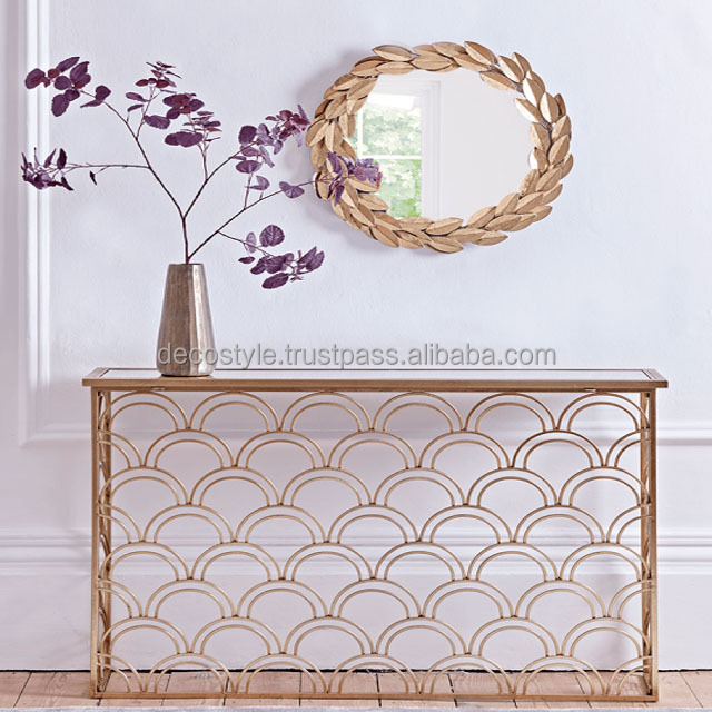 buy wrought iron console table with