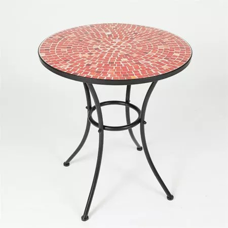 factory supplier garden patio furniture bistro set outdoor metal mosaic tile kd table with folding chair buy floding round table with tow