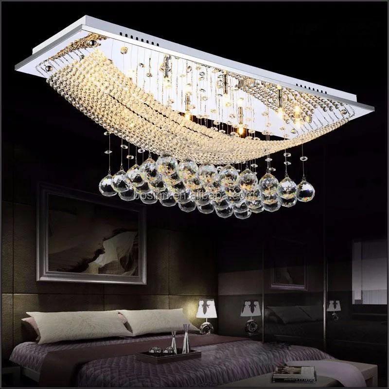 k9 crystal chandeliers 8 lights ceiling lights premium elegant raindrop flush mount lighting for bedroom living room wedding buy crystal