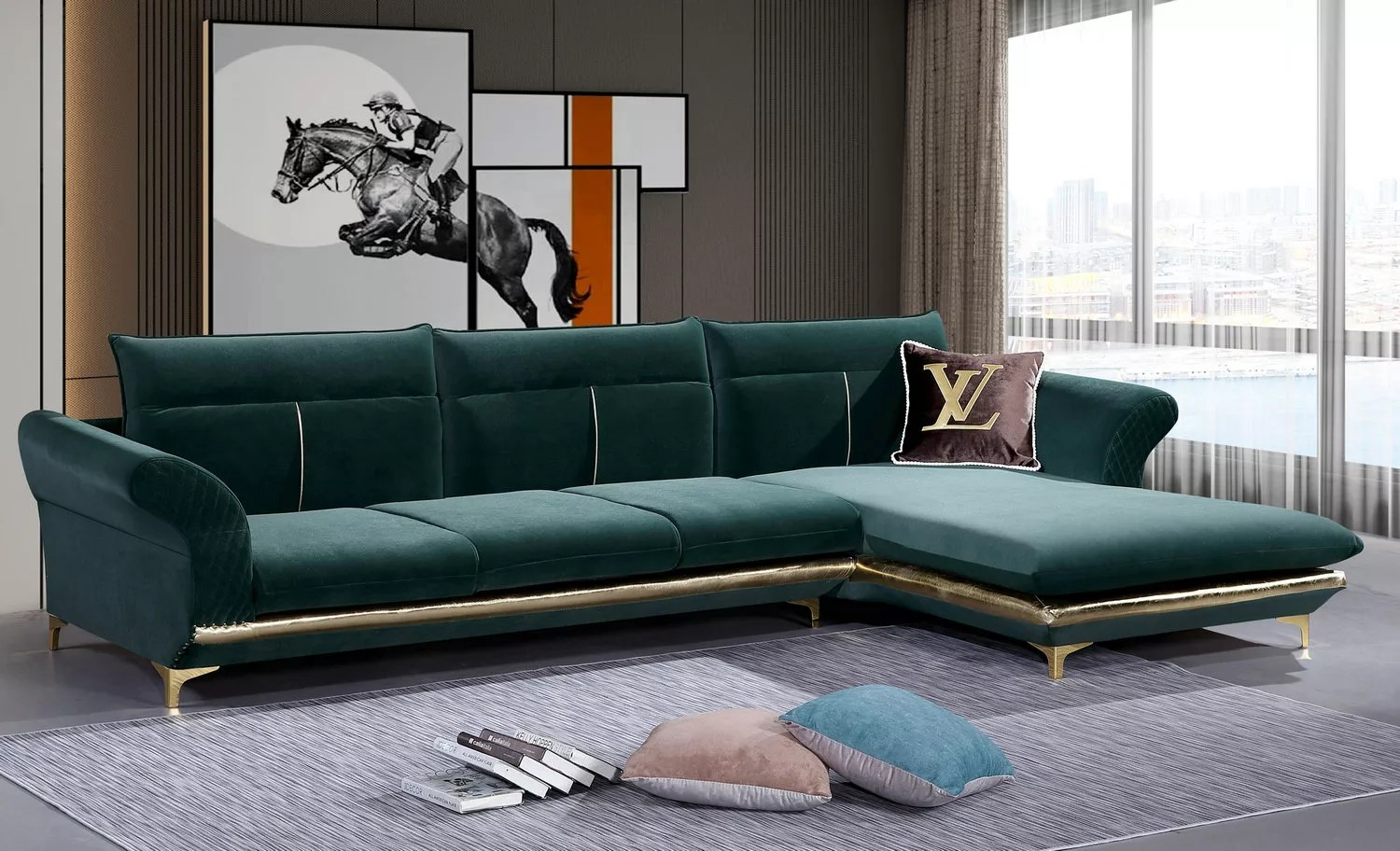 green color affordable luxury l shape sleeper couch velvet fabric sofa buy luxury exclusive sofas apple green sofa american upholstery sleeper sofas