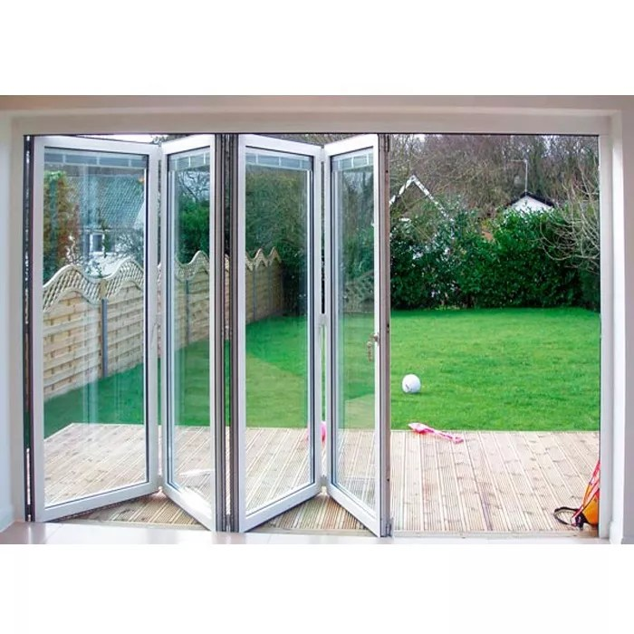 china factory supplier outdoor glass aluminum folding sliding patio door price buy lowes sliding glass patio doors hinges folding sliding