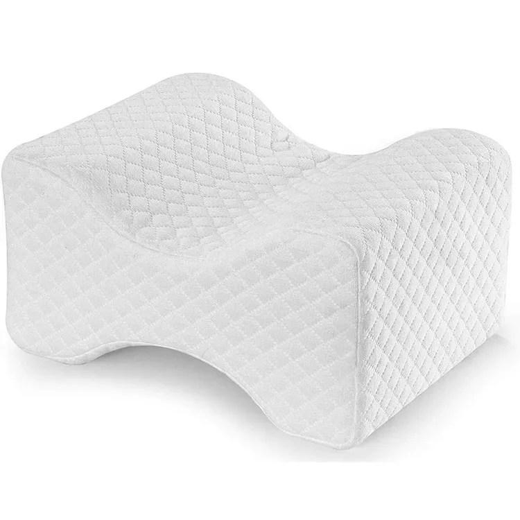 memory foam knee pillow contour wedge pillow orthopedic leg pillow for side sleeper buy memory foam knee pillow contour wedge pillow othopedic leg