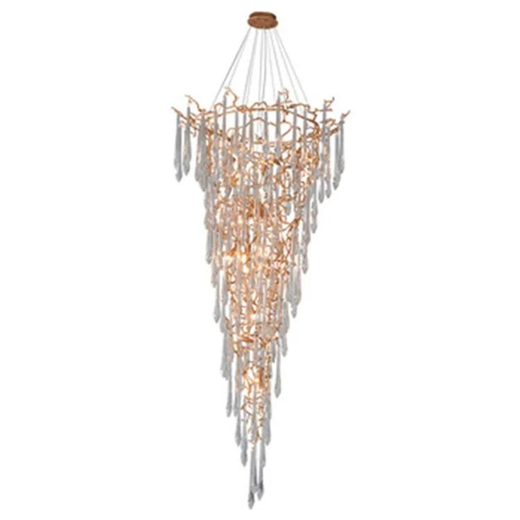 italian style 15 light foyer chandelier lighting modern austrian crystal drops flower pendant lamp buy austrian crystal chandeliers contemporary