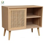 1 Door Wood And Rattan Antique Sideboard Buy Wooden And Rattan Sideboard Product On Alibaba Com