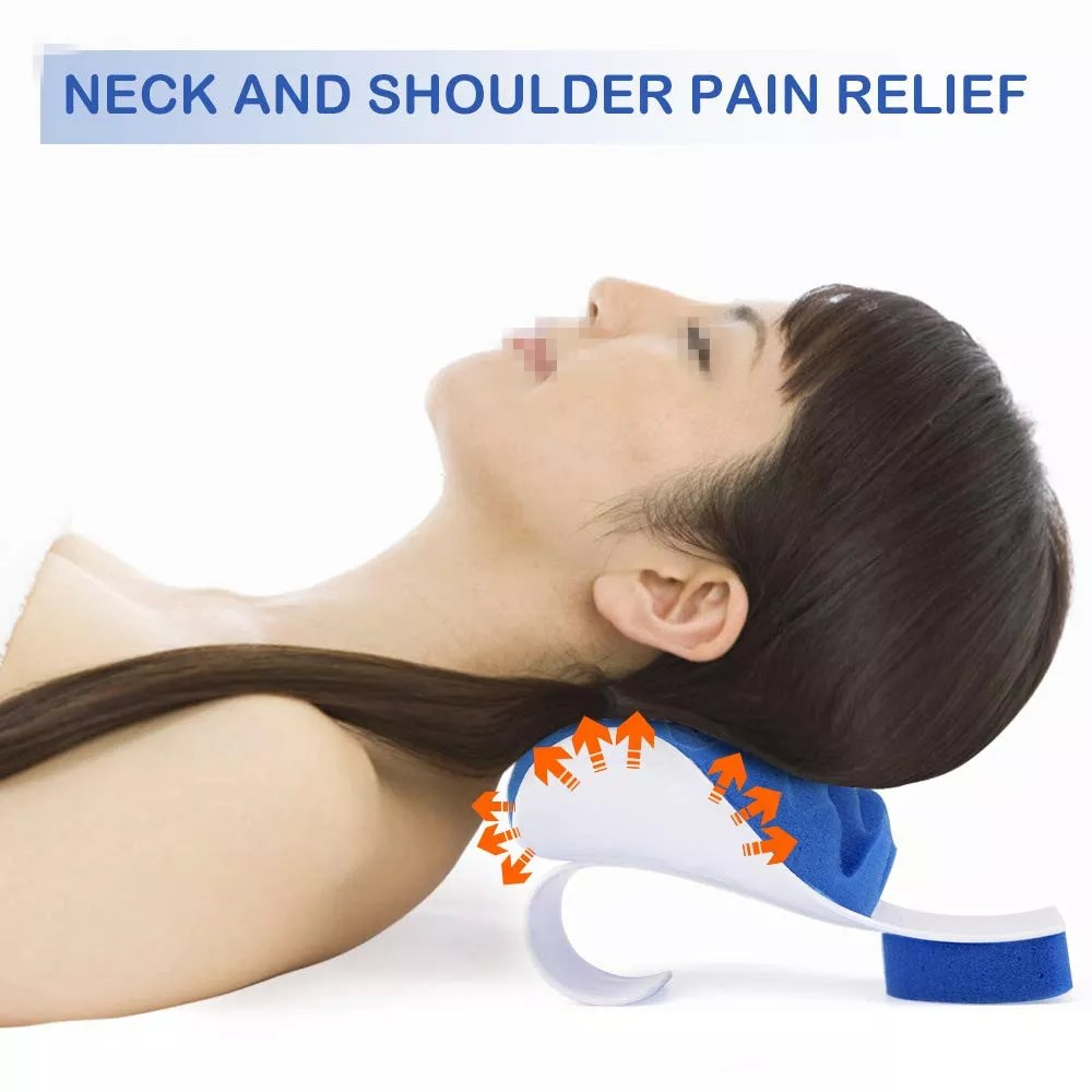 pawing chiropractic pillow neck shoulder relaxer cervical pillow neck traction device for pain relief cervical spine alignment buy pawing