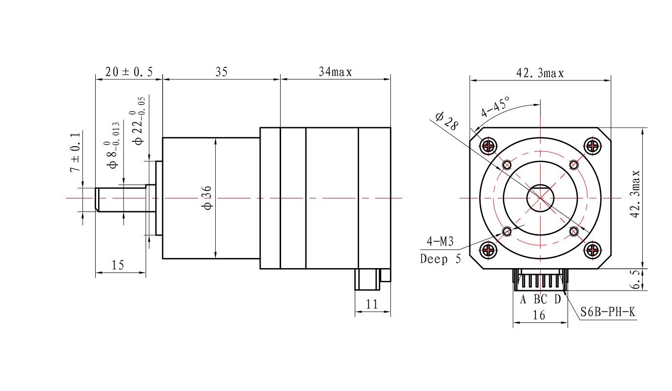 High Torque Nema 17 Gear Diy Cnc Robot 3d Printer 1 8