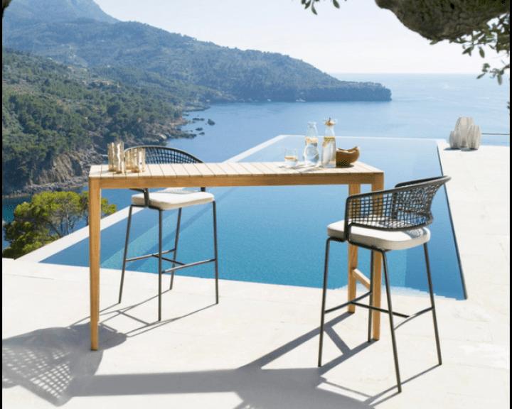 modern design outdoor garden bar furniture manufacturer teak wooden bar table and chair metal patio bar stool set buy wooden bar table and