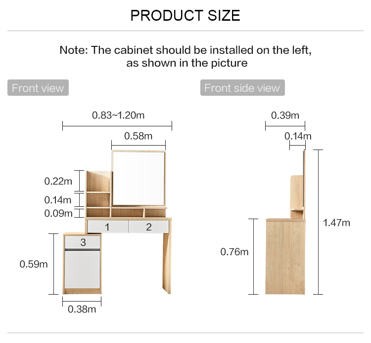 Drawer Cabinet Furniture Bedroom Set Modern Room Fabric Dresser With Mirror Chair