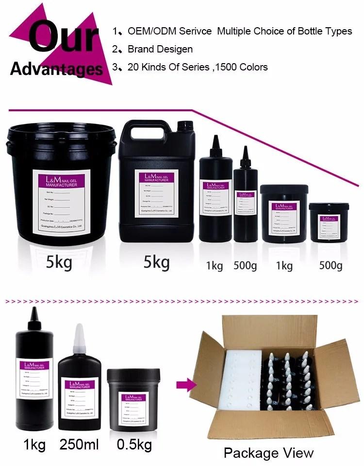 nails supply Wholesale gel polish UV Base Top Coat Gel Bulk package