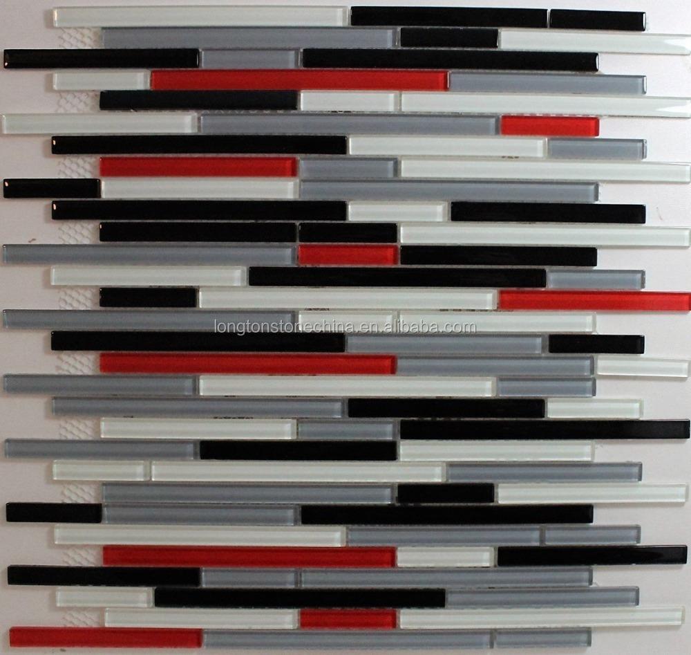 carrelage mosaique en verre gris 1 piece rouge blanc noir gris carreaux volants pour murs de la cuisine et de la salle de bains buy carreaux