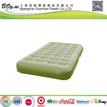 iso audit usine lit d air matelas double taille vert pvc floque gonflable unique air