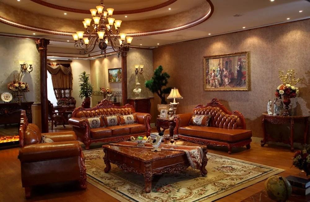 Genuine Leather Sofa Set For Royal Red Wood Living Room Furniture Buy Wood Furniture Living Room Furniture Genuine Leather Sofa Set Product On Alibaba Com