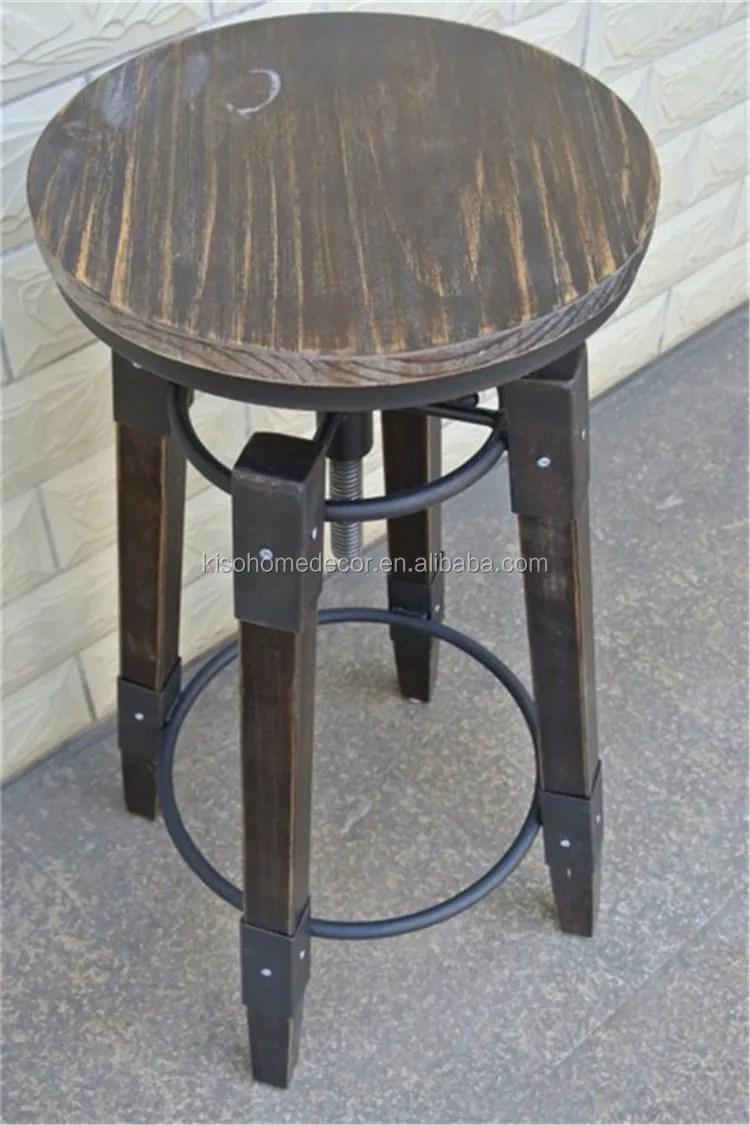 tabouret de bar en fer forge chaise haute chaise de levage rotative en bois massif vente directe d usine buy tabouret de bar tabouret de bar chaise