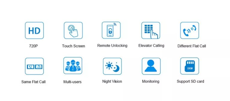 Home Security Smart rj45 building video door phone intercom system