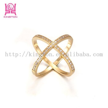 X Style 2015 Newest Stainless Steel Zircon Rings For Women ...