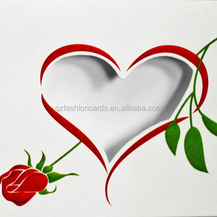 carte d invitation d anniversaire en forme de rose rouge vierge avec coeur pieces buy conception de carte d invitation conception de carte