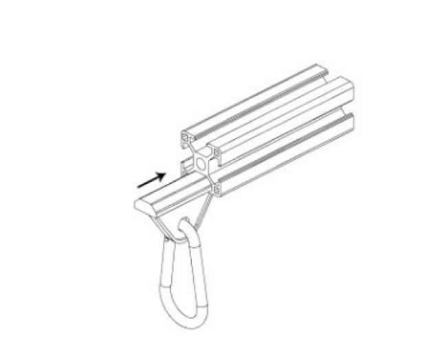 3030 aluminum extrusion T-slot slide spring hook