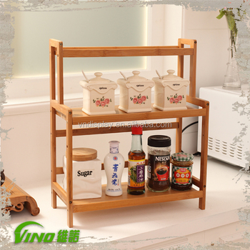 Wood Kitchen E Rack Countertop Stand Organizer Wooden