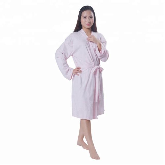 100% Cotton Kimono Women Bathrobe Sexy Lady Dress