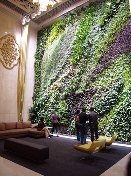 2014 Hot Sell Artificial Leaf Wall Hedge Patio Plant For ... on Green Wall Patio id=45642