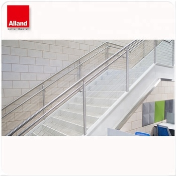 Modern Stainless Steel Cable Stair Railing Wire Railings Stairs   Steel Cable Stair Railing   Diy   White   Balcony   Steel Wire   Industrial