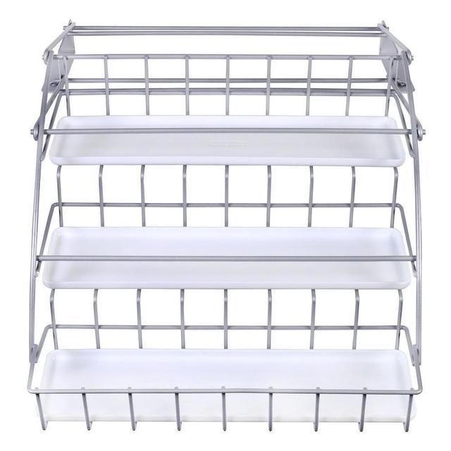 new kitchen in cabinet pull down metal white spice rack storage organizer holder buy pull down spice rack spice rack spice storage rack product on
