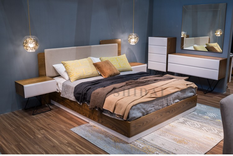 2017 Latest New Model Bedroom Furniture Wooden Designs