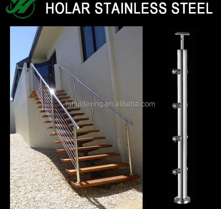 Handrails Stainless Steel Outdoor Stair Railing Buy Stainless Steel | Stainless Steel Outdoor Stair Railings | Horizontal | Balcony 4X10 | Metal | Black | Hand