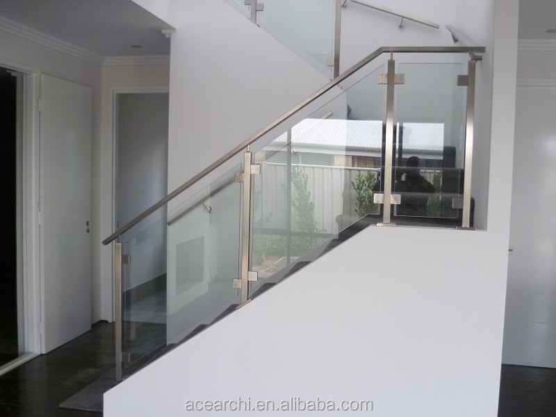 Simple Design Glass Stair Railing Cost With Balcony Design Picture | New Stair Railing Cost | Staircase Ideas | Glass Railing | Staircase Design | Stair Parts | Wooden Stairs