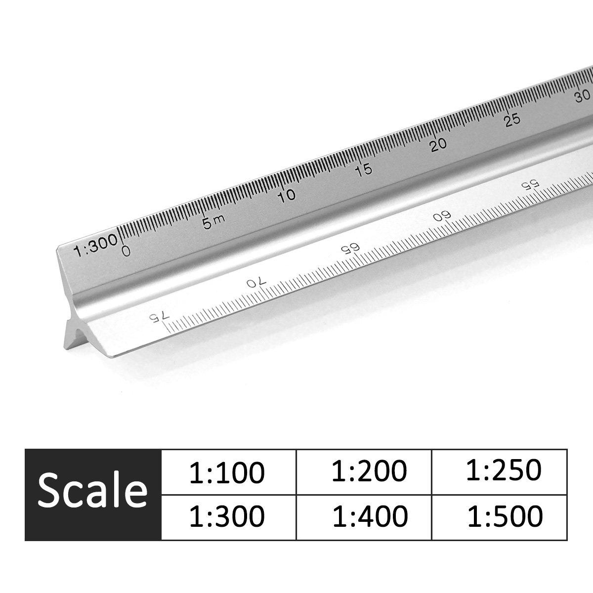 Buy Aluminum Triangular Metric Architect Scale Ruler 1 100