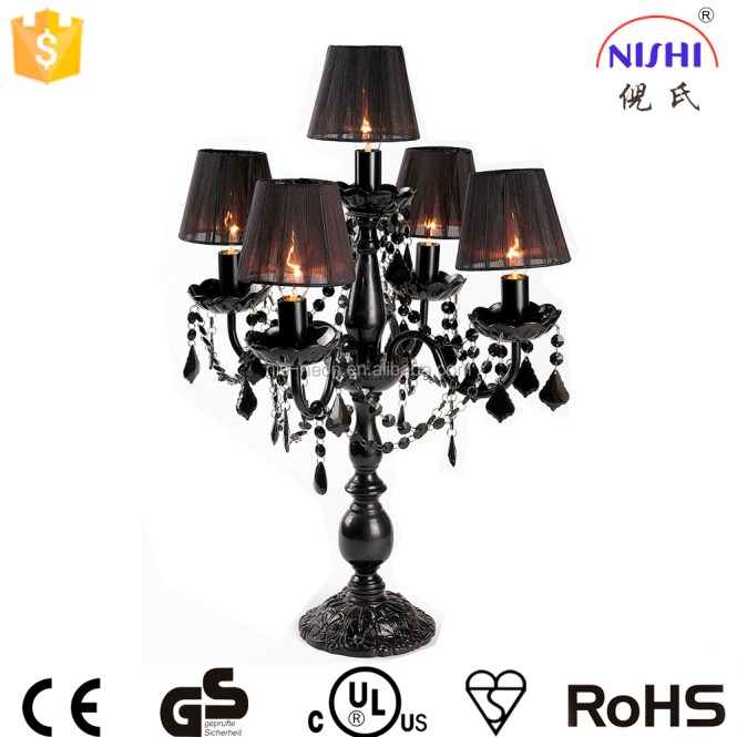 Hot Ing Chandelier Table Lamp Top Centerpieces For Weddings Black Shade Product On Alibaba