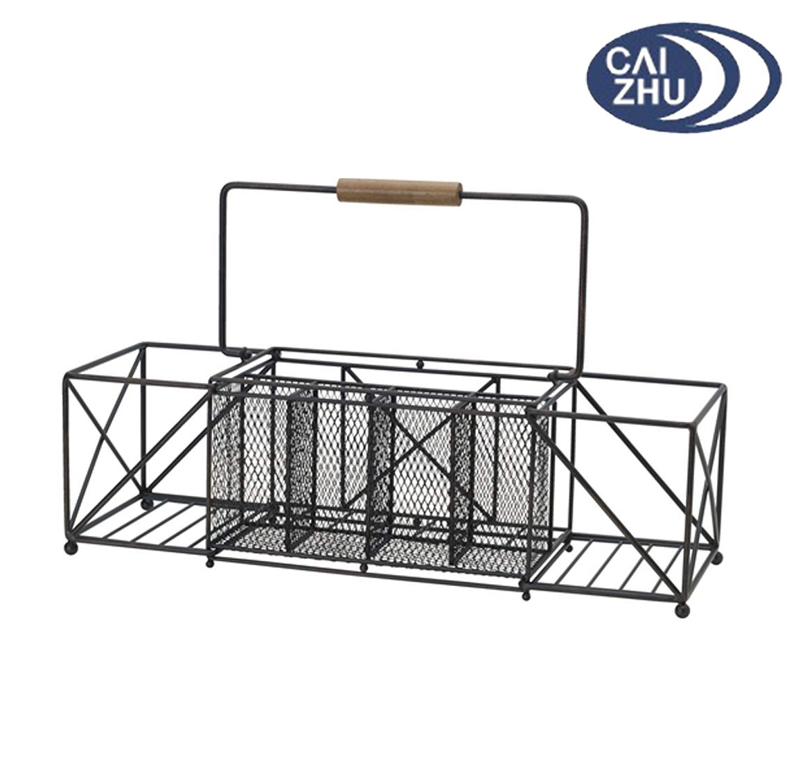 Expandable Picnic Plate Napkin And Flatware Storage Caddy