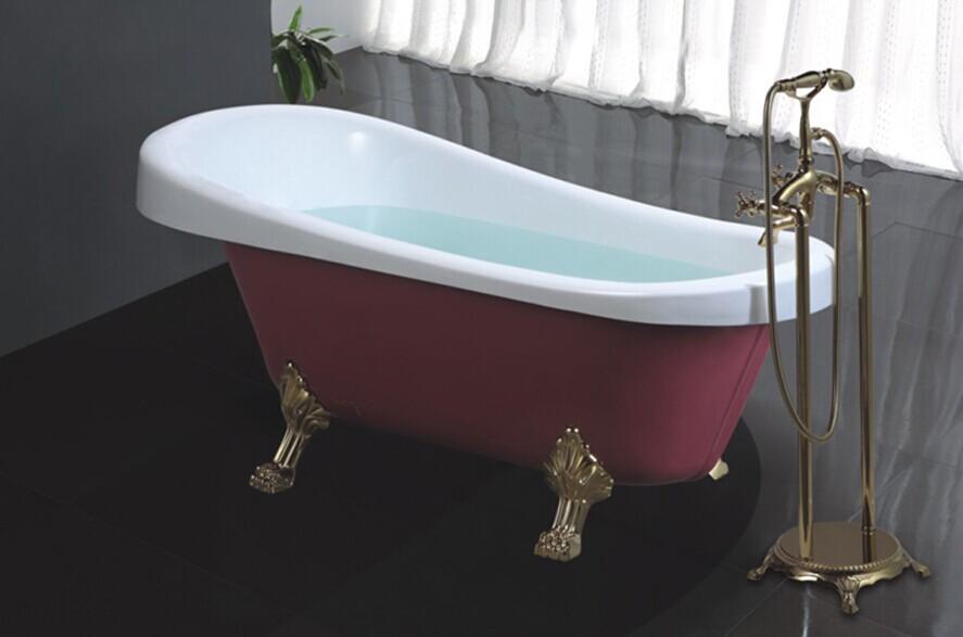 Hs B506 Fiberglass Claw Foot Tub4 Feet BathtubSmall