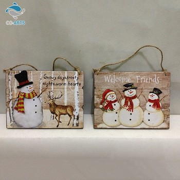 Factory Direct Supply Colorful Painted Snowman Christmas