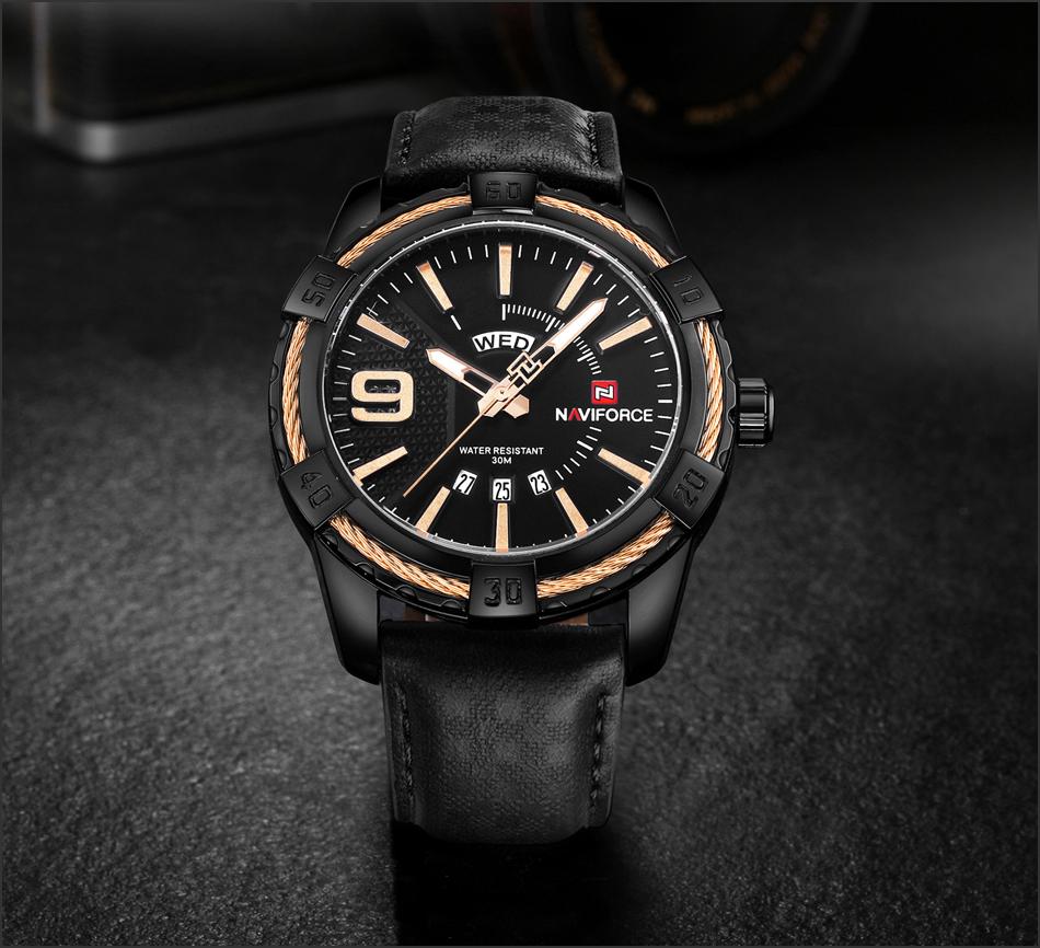 HTB1Egjtgf2H8KJjy0Fcq6yDlFXaP NAVIFORCE Top Luxury Brand Men Quartz Watch Army Military Sport Business Watches Week Analog Display Male Clock Waterproof Hour