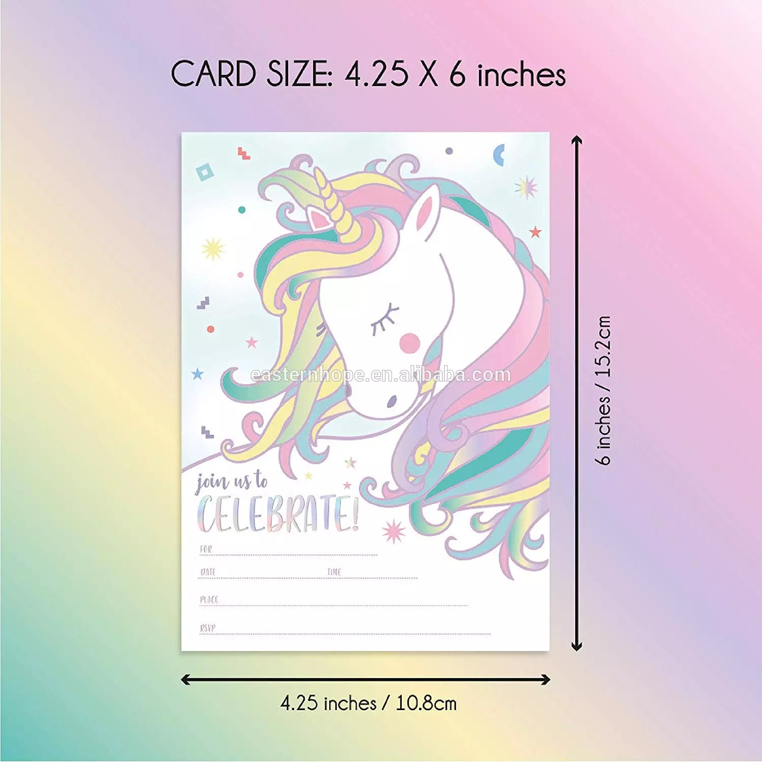 25magical unicorn birthday invites with envelopes double sided fill in the blank girls birthday invitation cards buy birthday invitation