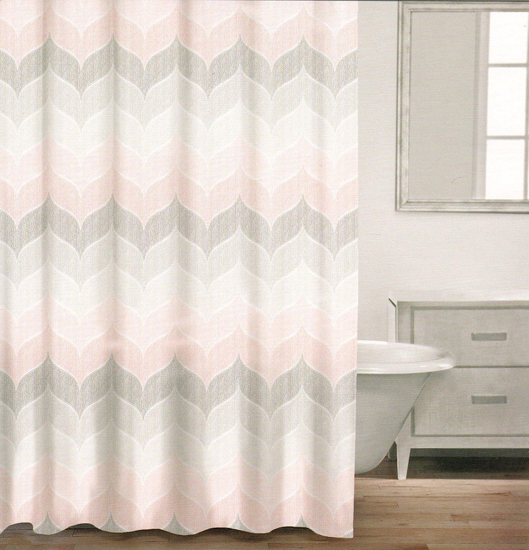 cotton shower curtain wide stripes