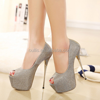 Fancy Girls High Heels Shoes Fashion Peep Toe Women Shoes Pencil Heel Dress Shoes Py3368
