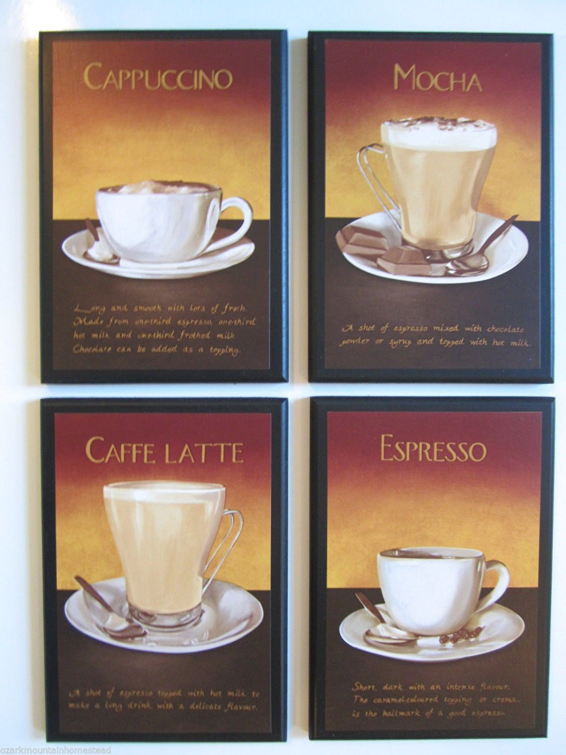 Cheap Wall Decor Coffee  find Wall Decor Coffee deals on line at     Get Quotations      Coffee   Kitchen Wall Decor Plaques  Mocha Cappuccino  Latte Espresso  Wall Decor Signs