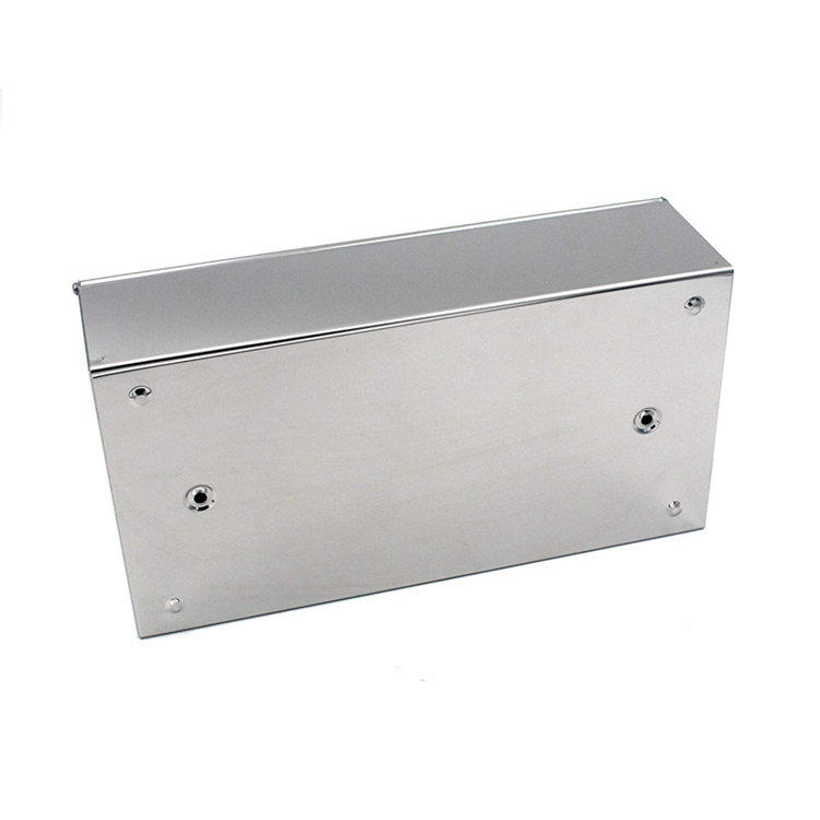 Wall Mounted Rectangular 304 Stainless Steel Facial Tissue ... on Wall Mounted Tissue Box Holder id=90247