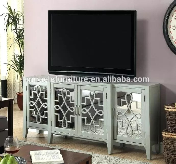 support tv en bois blanc avec miroir incurve support tv de 55 pouces pour salon et armoire buffet buy meuble tv incurve en bois blanc buffet de