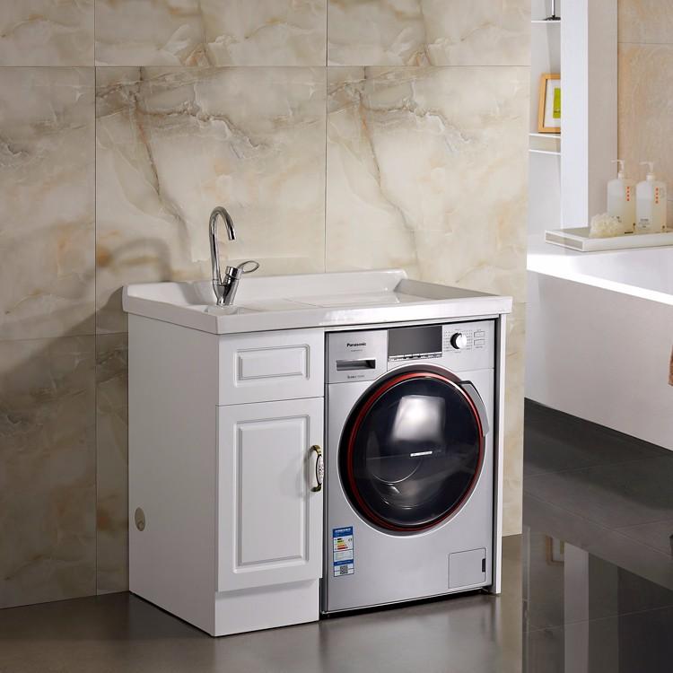 Modern Laundry Sink Pvc Bathroom Cabinet For Washing
