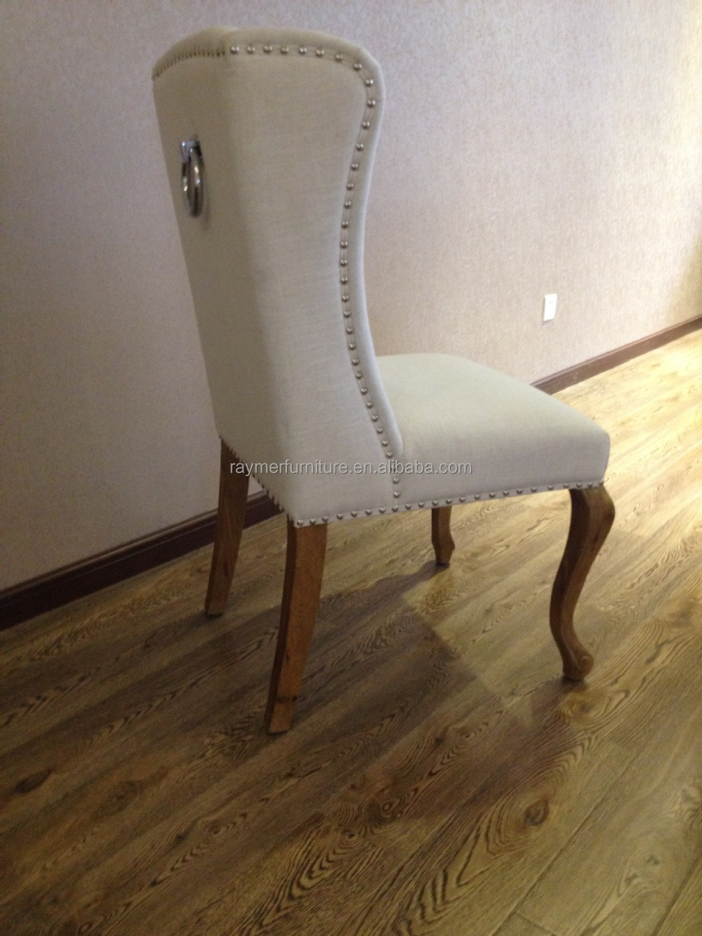 Norway Popular Classic Pull Ring Back White Linen Chair Ring Dining Chair Buy Ring Dining
