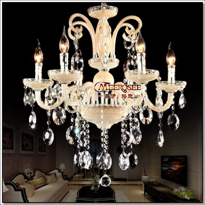 Graceful Residential Lighting Chandelier Crystal Incandescent Luminaire Md88001 L6