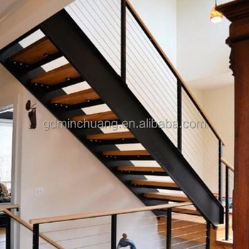 Carbon Steel Beam Stairs Timber Wood Tread Staircase Buy   Steel And Timber Stairs   90 Degree External   Architectural   Modern   Contemporary   House