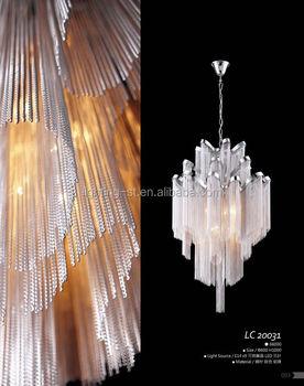 Metal Decorative Aluminium Silver Chain Chandelier Lc20031