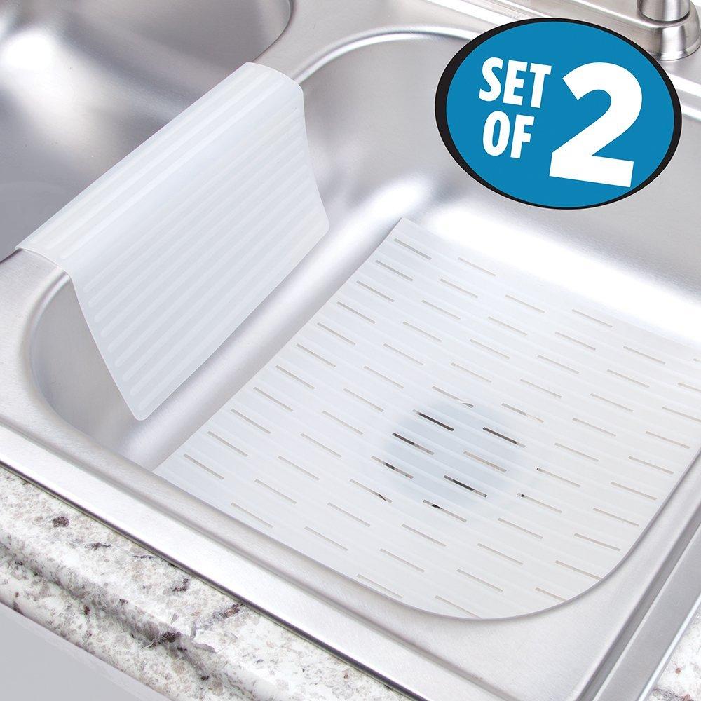 buy mdesign silicone kitchen sink mat
