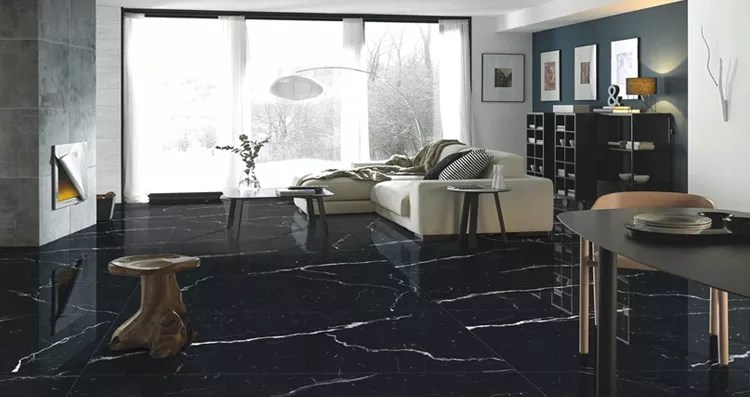 black and white matching of all glazed marble floor tiles with skid proof and wear resistant floor tiles in living room buy black and white ceramic