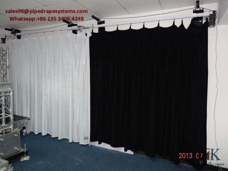 remote control curtain rod double track white sliding curtain track system buy white sliding curtain track curtain rod double track white sliding